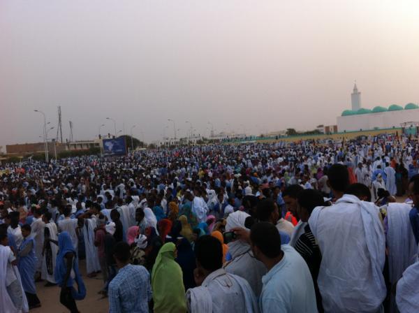 صورة من إعتصام سابق للمعارضة في ساحة إبن عباس، نواكشوط. تصوير: أحمد جدو