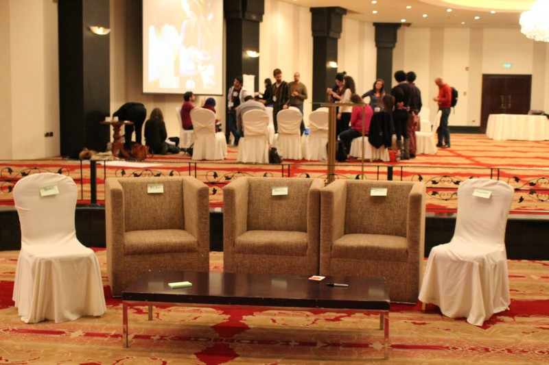 Chairs reserved for missing bloggers remained empty during ab14 - Photo, Hisham Almiraat