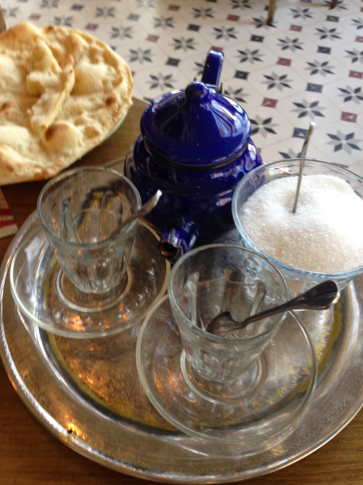 Traditional tea with miramieh (Sage leaves)