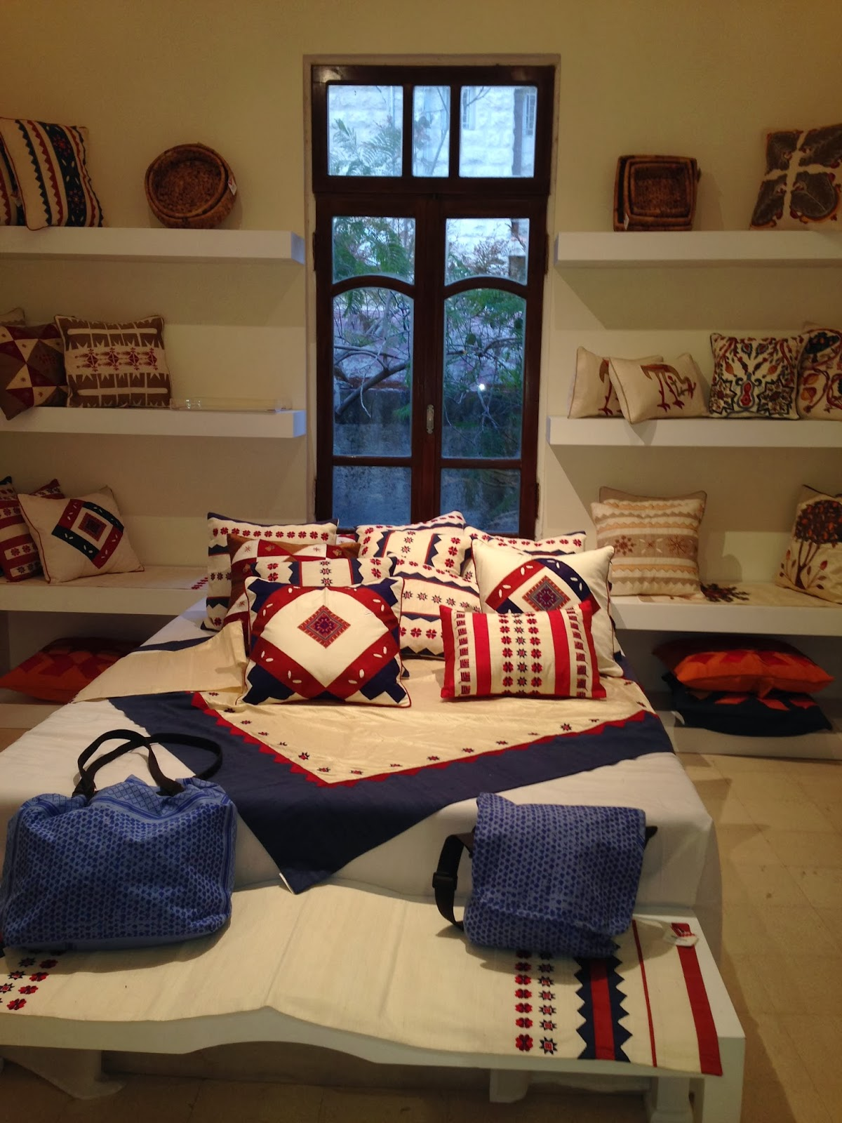 Hand made bed sheets with traditional and contemporary designs